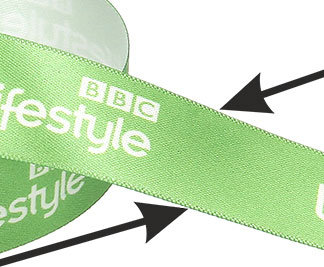 ribbon satin with logo