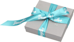 Manufacture of gift ribbon with logo