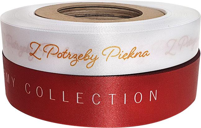 ribbons with company logo