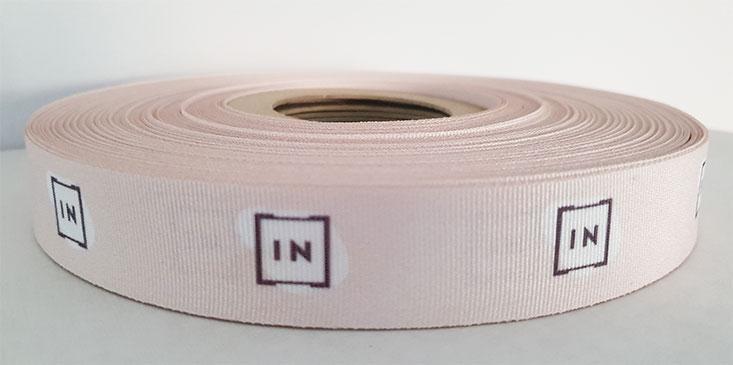 Rep ribbons with logo printed
